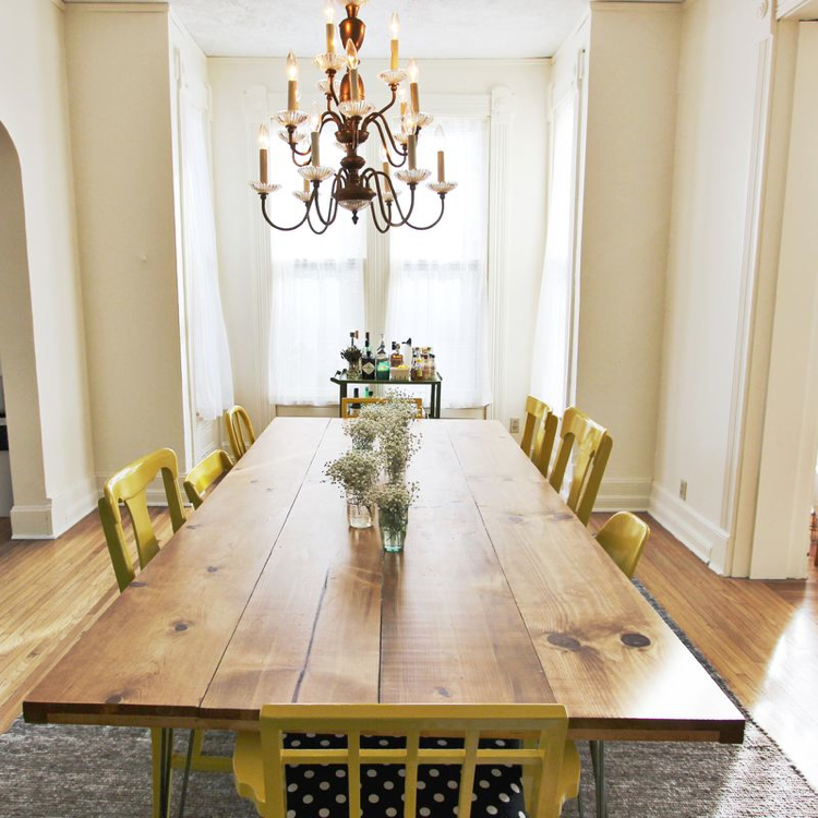 home diy dining room table and mismatched chairs the anthology