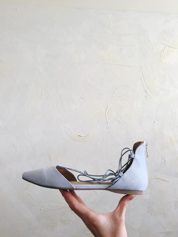 Blue suede shoe